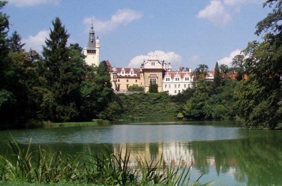 Průhonice, park i zamek