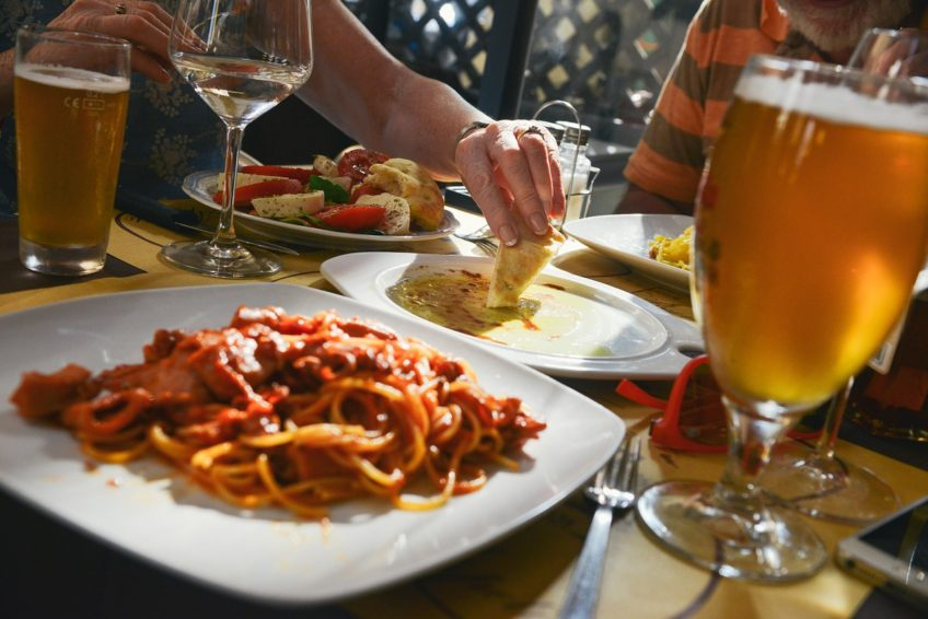 Kolacja we włoskiej restauracji